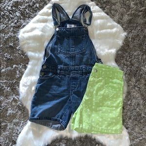Old Navy Overall & Green Short🦋